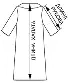 Л061 халат, длина изделия